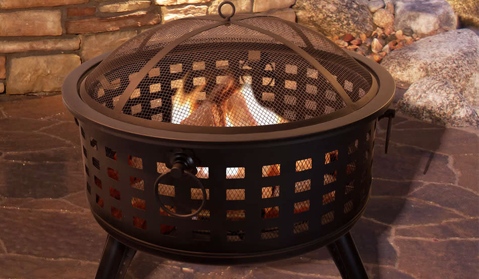 Heat up your backyard with a fire pit, on major sale for Labor Day. (Photo: Wayfair)