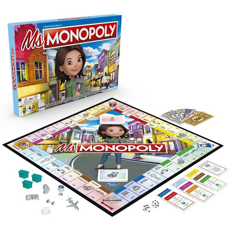 "Mr. Monopoly's niece, a self-made investment guru, is ready for her close-up!&nbsp;<strong>Ages:</strong> 8+&nbsp;<strong>Get it at:</strong> <a href=""https://www.toysrus.ca/en/Ms.-Monopoly-Board-Game/4B21FA60.html"" target=""_blank"" rel=""noopener noreferrer"">Toys R Us</a>, $24.99"