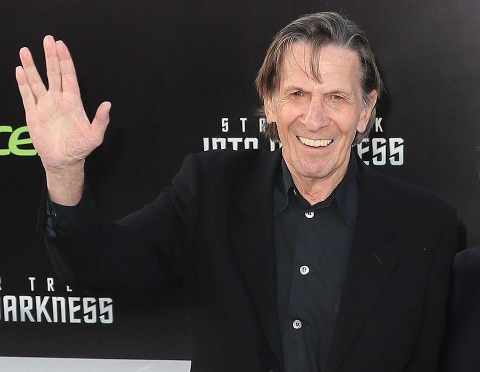 "<p>Leonard Nimoy in Hollywood on May 14, 2013. He would pass away two years later; <i>Star Trek Beyond </i>is <a href=""http://www.thedailybeast.com/articles/2016/07/15/star-trek-beyond-review-you-will-mourn-anton-yelchin-but-find-hope-in-its-unifying-message.html"" rel=""nofollow noopener"" target=""_blank"" data-ylk=""slk:partly dedicated"" class=""link rapid-noclick-resp"">partly dedicated</a> to him. <i>(Photo: David Livingston/Getty Images)</i></p>"