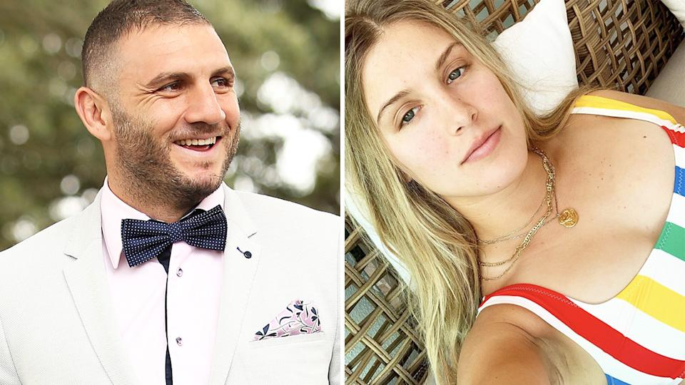 Robbie Farah's attempt at wooing Eugenie Bouchard fell flat almost immediately. Pictures: Getty Images/Instagram