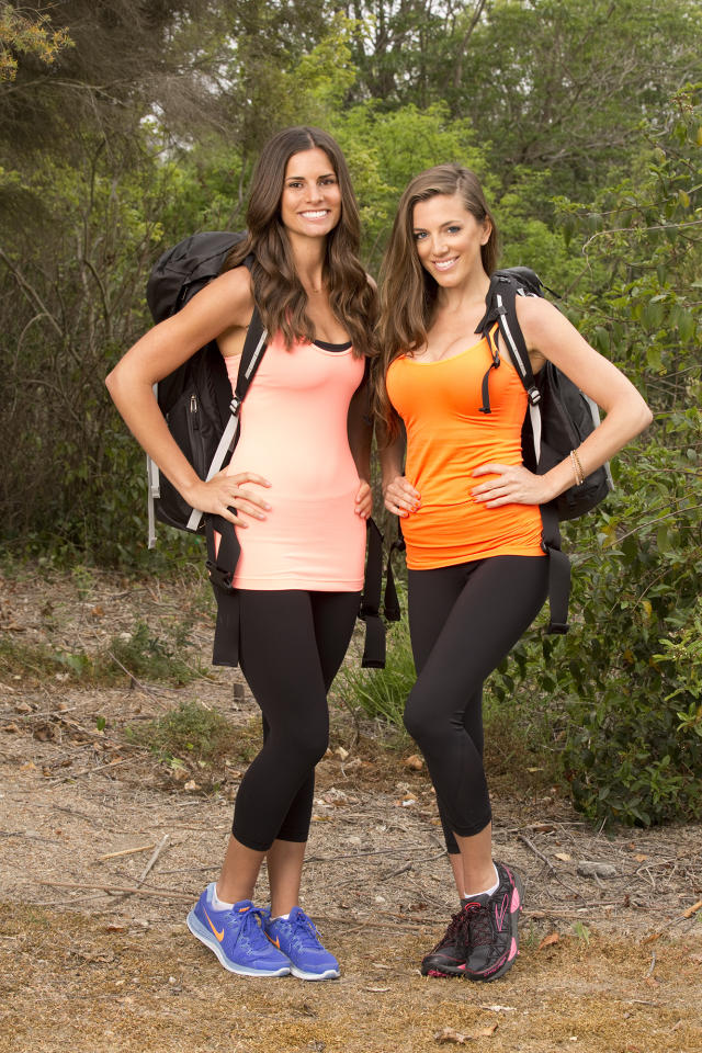 """Baseball Wives Nicole Getz and Kim DeJesus compete in a sprint around the globe for $1 million dollars on the new season of """"The Amazing Race."""""""