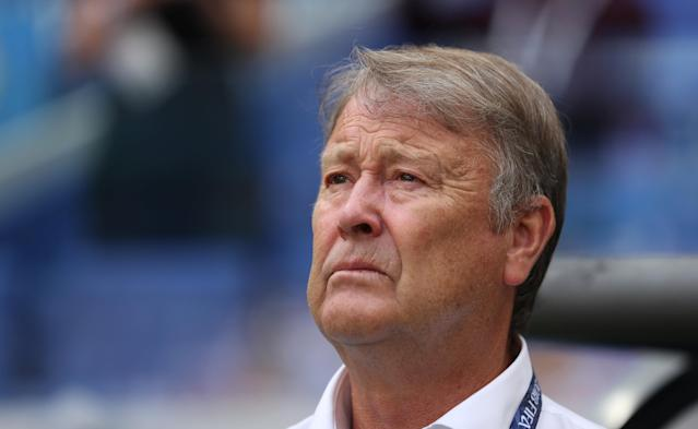 Soccer Football - World Cup - Group C - Denmark vs Australia - Samara Arena, Samara, Russia - June 21, 2018 Denmark coach Age Hareide before the match REUTERS/Pilar Olivares