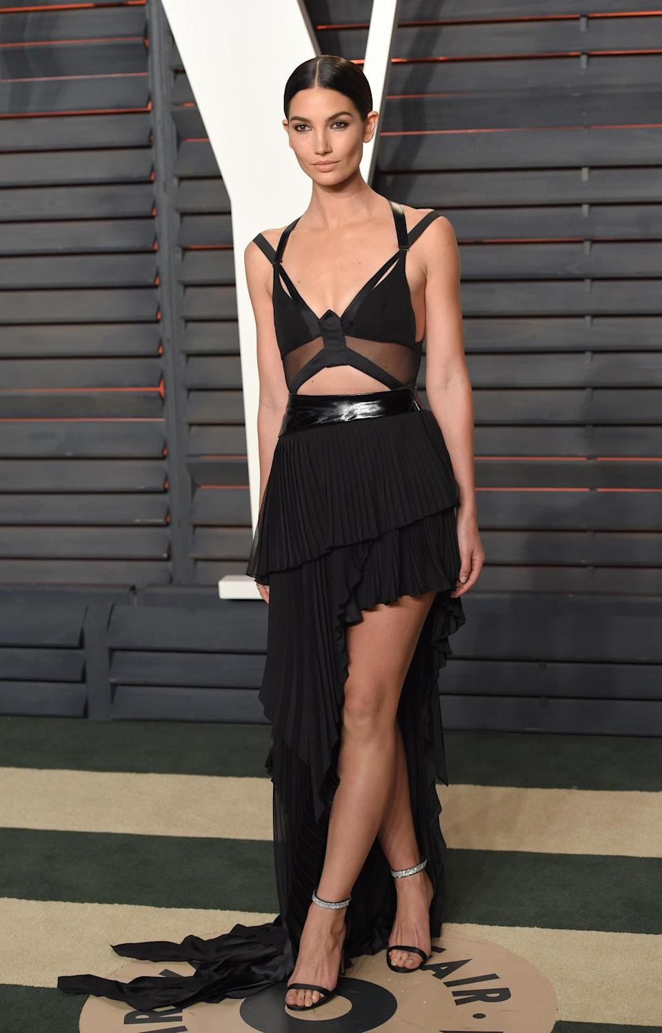 <p>She's part of Taylor Swift's 'squad' and has landed campaigns with the likes of Michael Kors and Carolina Herrera. <i>[Photo: PA]</i></p>