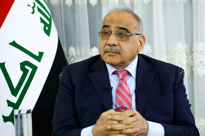Iraqi Prime Minister Adel Abdel Mahdi during an interview at the presidential compound in the capital Baghdad (AFP Photo/-)