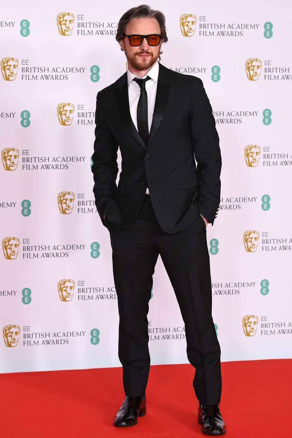 <p>Awards presenter James McAvoy opted for a classic black suit. </p>