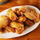 """<p>Fried <a href=""""https://www.delish.com/uk/chicken-recipes/"""" rel=""""nofollow noopener"""" target=""""_blank"""" data-ylk=""""slk:chicken"""" class=""""link rapid-noclick-resp"""">chicken</a> wings are so easy to make and always turn out great. Be sure to let them refrigerate for at least an hour. It well help the flavour and ensure they are extra crispy. </p><p>Get the <a href=""""https://www.delish.com/uk/cooking/recipes/a30975501/fried-chicken-wings-recipe/"""" rel=""""nofollow noopener"""" target=""""_blank"""" data-ylk=""""slk:Fried Chicken Wings"""" class=""""link rapid-noclick-resp"""">Fried Chicken Wings</a> recipe.</p>"""