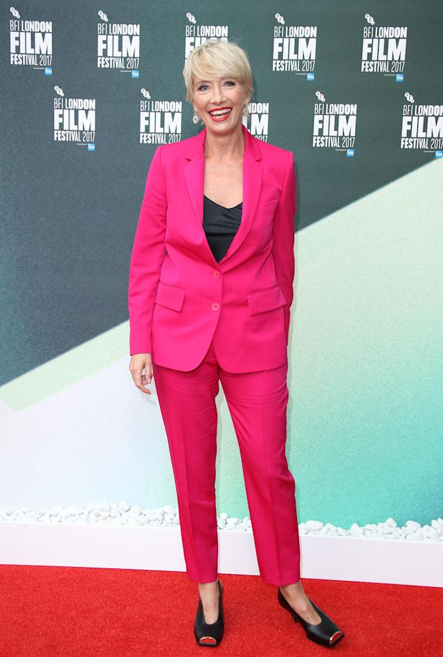 Emma Thompson the 61st BFI London Film Festival in October 2017.  (Mike Marsland via Getty Images)