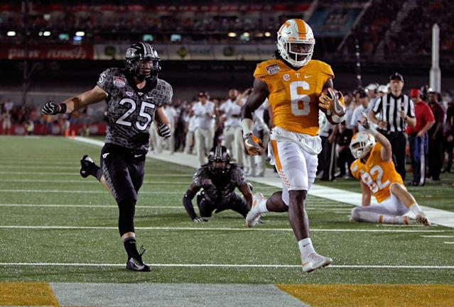 Tennessee RB Alvin Kamara is a tremendous playmaker despite limited opportunities. (AP)
