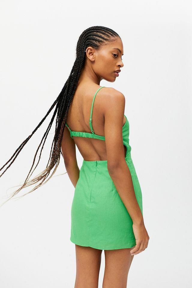 """<br><br><strong>Urban Renewal</strong> Urban Renewal Eco Linen Open Back Mini Dress, $, available at <a href=""""https://go.skimresources.com/?id=30283X879131&url=https%3A%2F%2Fwww.urbanoutfitters.com%2Fshop%2Furban-renewal-eco-linen-open-back-mini-dress%3Fcolor%3D030%26type%3DREGULAR%26quantity%3D1"""" rel=""""nofollow noopener"""" target=""""_blank"""" data-ylk=""""slk:Urban Outfitters"""" class=""""link rapid-noclick-resp"""">Urban Outfitters</a>"""