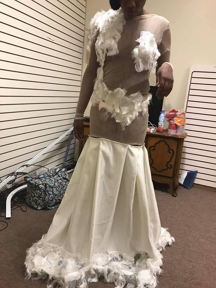 Dee Lewis says her daughter was devastated when she tried on her custom-made prom dress. (Photo: Facebook/Sham Sincere Lewis)