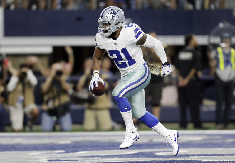 Dallas Cowboys running back Ezekiel Elliott is second in the NFL in rushing yards. (AP)
