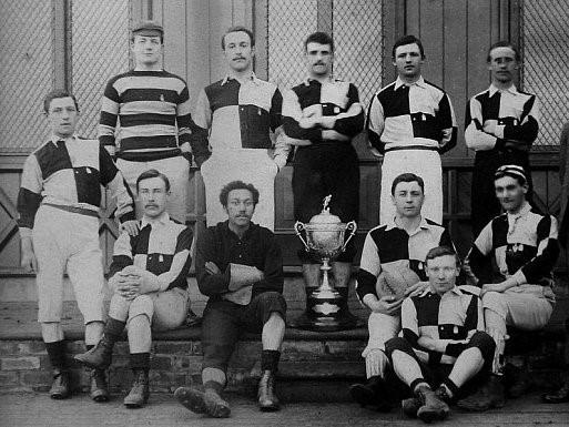 Wharton (seated second from left) with his Darlington FC teammates in 1887Arthur Wharton Foundation