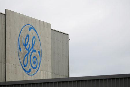 A sign marks a General Electric facility in Medford