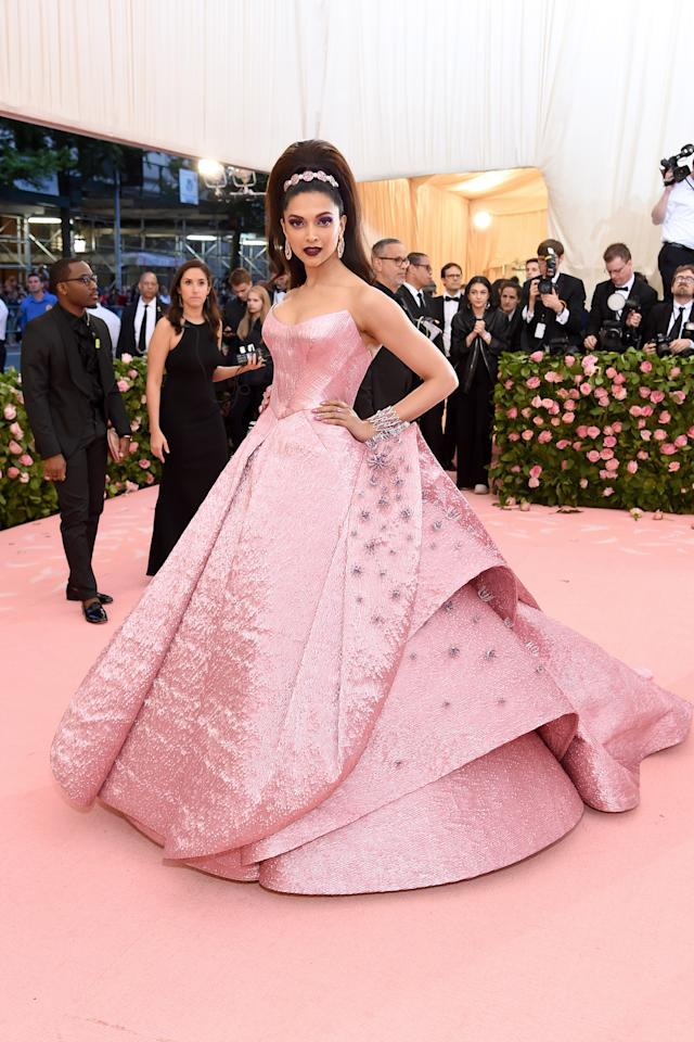 <p>NEW YORK, NEW YORK – MAY 06: Deepika Padukone attends The 2019 Met Gala Celebrating Camp: Notes on Fashion at Metropolitan Museum of Art on May 06, 2019 in New York City. (Photo by Jamie McCarthy/Getty Images) </p>