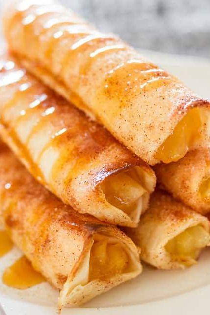 "<p>Yes, you really can have all the flavor of apple pie with a crispy-crunchy exterior reminiscent of a taquito. We can't imagine a more perfect dessert for taco night!</p><p><strong>Get the recipe at <a href=""https://www.jocooks.com/recipes/apple-pie-taquitos/"" rel=""nofollow noopener"" target=""_blank"" data-ylk=""slk:Jo Cooks"" class=""link rapid-noclick-resp"">Jo Cooks</a>.</strong></p><p><a class=""link rapid-noclick-resp"" href=""https://www.amazon.com/Comstock-Original-Filling-Topping-Caramel/dp/B01GCNW6D2?tag=syn-yahoo-20&ascsubtag=%5Bartid%7C10050.g.650%5Bsrc%7Cyahoo-us"" rel=""nofollow noopener"" target=""_blank"" data-ylk=""slk:SHOP APPLE PIE FILLING"">SHOP APPLE PIE FILLING</a></p>"