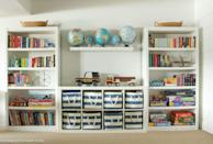 """<p>Ever since you got the <a href=""""https://www.countryliving.com/home-maintenance/organization/g3116/pantry-organization/"""" rel=""""nofollow noopener"""" target=""""_blank"""" data-ylk=""""slk:pantry organization"""" class=""""link rapid-noclick-resp"""">pantry organization</a> in perfect working order, there's a new leader for the the messiest, least organized space in your house: the kids' playroom. But good news, it's about to get a major upgrade. We know that your current organizing plan for the kids' playroom is to shut the door on and forget about it, but there's a better way. You've taken on stressful situations and made <a href=""""https://www.countryliving.com/home-maintenance/organization/tips/g57/diy-organization-ideas/"""" rel=""""nofollow noopener"""" target=""""_blank"""" data-ylk=""""slk:DIY organization ideas"""" class=""""link rapid-noclick-resp"""">DIY organization ideas</a> work in other spots, so taking on the playroom will be like, well, child's play. <br></p><p>While we love the tried-and-true favorites like colorful baskets and bins, when the stuffed animal count reaches above 50 and the Lego count is well into the hundreds, it's time to bring in reinforcements (and we don't mean toy soldiers!). Scroll through our gallery to find 30 innovative and easy ways to organize your kids' toys—from a DIY dress-up clothes closet to built-in bunk bed storage and lots more. While you may have some <a href=""""https://www.countryliving.com/remodeling-renovation/"""" rel=""""nofollow noopener"""" target=""""_blank"""" data-ylk=""""slk:home renovation projects"""" class=""""link rapid-noclick-resp"""">home renovation projects</a> in your future, you can put that home zoo for stuffed animals and second garage for toy cars on hold! Soon the playroom just might become a room where you leave the door open at all times.</p>"""