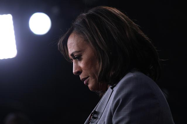 Sen. Kamala Harris after a Democratic presidential debate in Atlanta, Nov. 20, 2019. (Photo: Christopher Aluka Berry/Reuters)