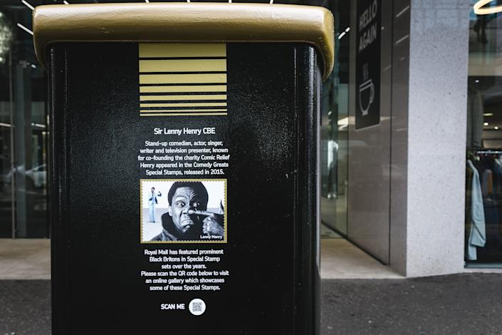 Sir Lenny Henry, is honoured by a postbox in Bedford Street, BelfastPA
