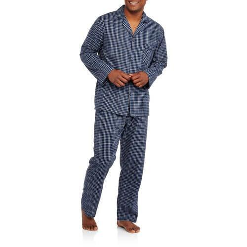 <p>The <span>Hanes Men's and Big Men's Long Sleeve, Long Pant Woven Pajama Set</span> ($30) look and feel luxe, but won't break the bank. </p>