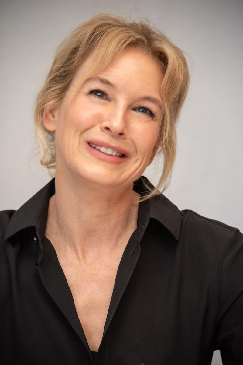 "WEST HOLLYWOOD, CALIFORNIA - MAY 17: Renee Zellweger at the ""What/If"" Press Conference at The London Hotel on May 17, 2019 in West Hollywood, California. (Photo by Vera Anderson/WireImage)"