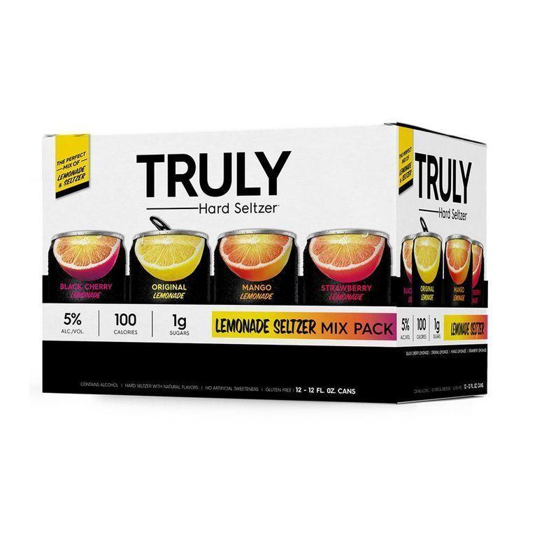 """<p><strong>Truly</strong></p><p>drizly.com</p><p><strong>$18.99</strong></p><p><a href=""""https://go.redirectingat.com?id=74968X1596630&url=https%3A%2F%2Fdrizly.com%2Fbeer%2Fspecialty-beer-alternatives%2Fhard-seltzer%2Ftruly-lemonade-hard-seltzer-mix-pack%2Fp100552&sref=https%3A%2F%2Fwww.delish.com%2Fkitchen-tools%2Fcookware-reviews%2Fg33263238%2Fhard-seltzers%2F"""" rel=""""nofollow noopener"""" target=""""_blank"""" data-ylk=""""slk:BUY NOW"""" class=""""link rapid-noclick-resp"""">BUY NOW</a></p><p>Seltzer that tastes like lemonade and has a 5% ABV? Sign us up. </p>"""