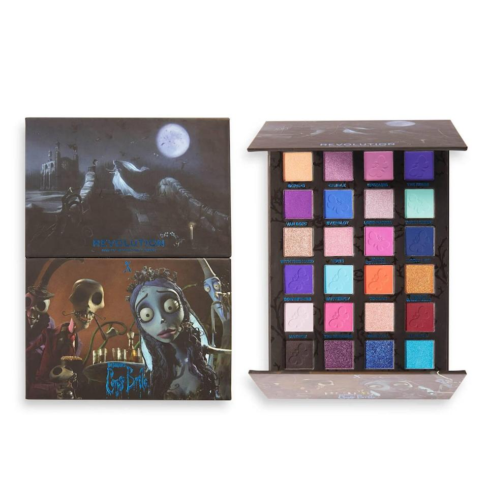 <p><span>Corpse Bride X Revolution Upstairs Downstairs Shadow Palette</span> ($25)</p>
