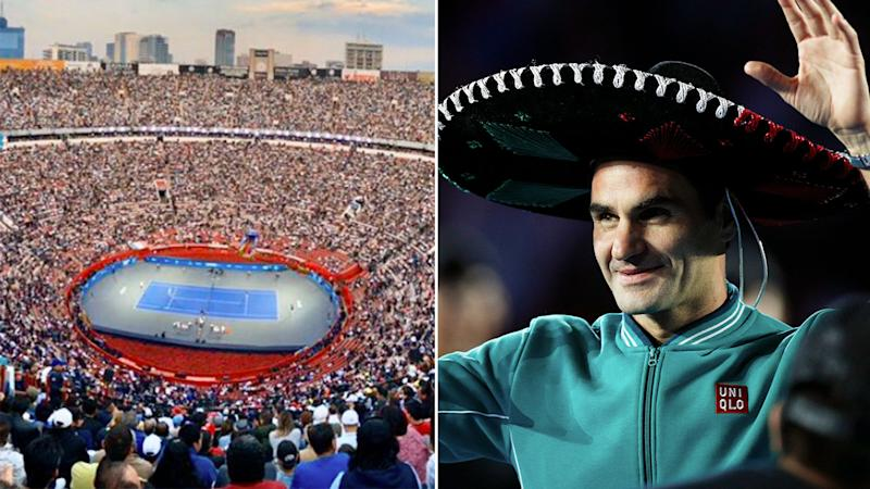 Roger Federer's exhibition match against Alexander Zverev drew the biggest crowd ever seen at a tennis match.