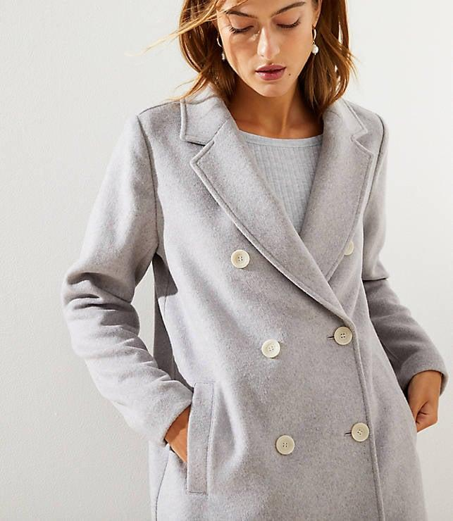 """<p>Every year, I like to get myself a new coat, and this <a href=""""https://www.popsugar.com/buy/Loft-Double-Breasted-Coat-523255?p_name=Loft%20Double%20Breasted%20Coat&retailer=loft.com&pid=523255&price=190&evar1=fab%3Aus&evar9=45509008&evar98=https%3A%2F%2Fwww.popsugar.com%2Ffashion%2Fphoto-gallery%2F45509008%2Fimage%2F45509016%2FLoft-Double-Breasted-Coat&list1=shopping%2Csales%2Ceditors%20pick%2Cblack%20friday%2Csale%20shopping%2Cblack%20friday%20sales&prop13=mobile&pdata=1"""" rel=""""nofollow"""" data-shoppable-link=""""1"""" target=""""_blank"""" class=""""ga-track"""" data-ga-category=""""Related"""" data-ga-label=""""https://www.loft.com/double-breasted-coat/518633?selectedColor=6723"""" data-ga-action=""""In-Line Links"""">Loft Double Breasted Coat </a> ($190) is so stylish and perfect for every day. Loft is having 40 percent off everything, making it the ideal time to purchase this staple piece.</p>"""