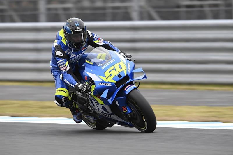 Suzuki trials 2020 MotoGP engine in practice