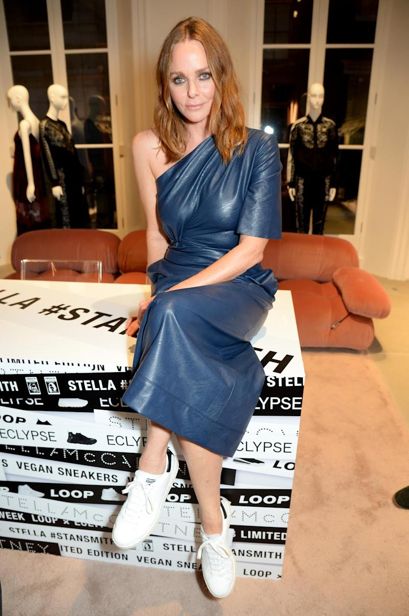 Stella McCartney at the launch of the first vegan Stan Smiths in 2018 (Stella McCartney)