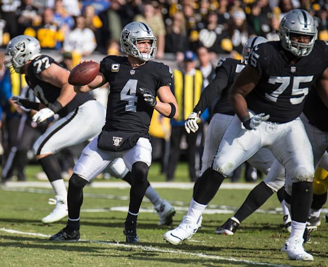 Derek Carr will hope for another strong outing as Oakland head to Cincinnati