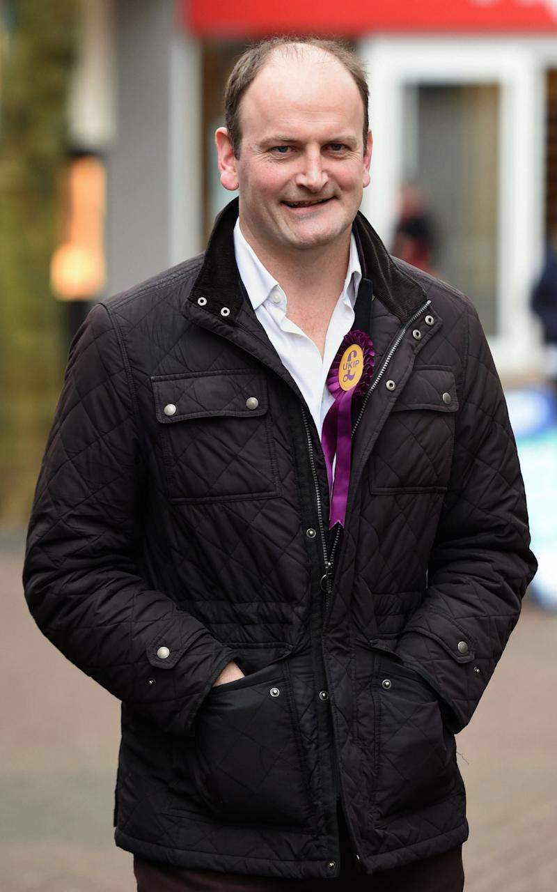 Then Ukip MP Douglas Carswell meets party activists in Stoke ahead of the Stoke-on-Trent Central by-electio - Joe Giddens