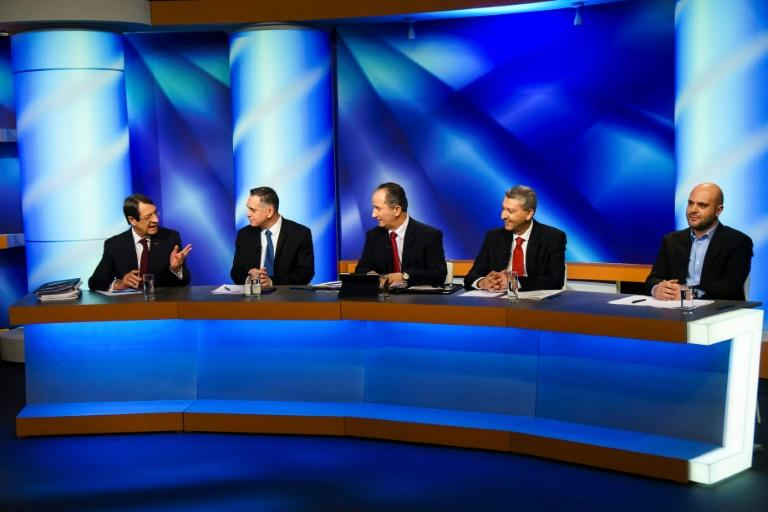Presidential candidates in Cyprus argued about the island's decades-long division in the first and only live TV debate ahead of elections