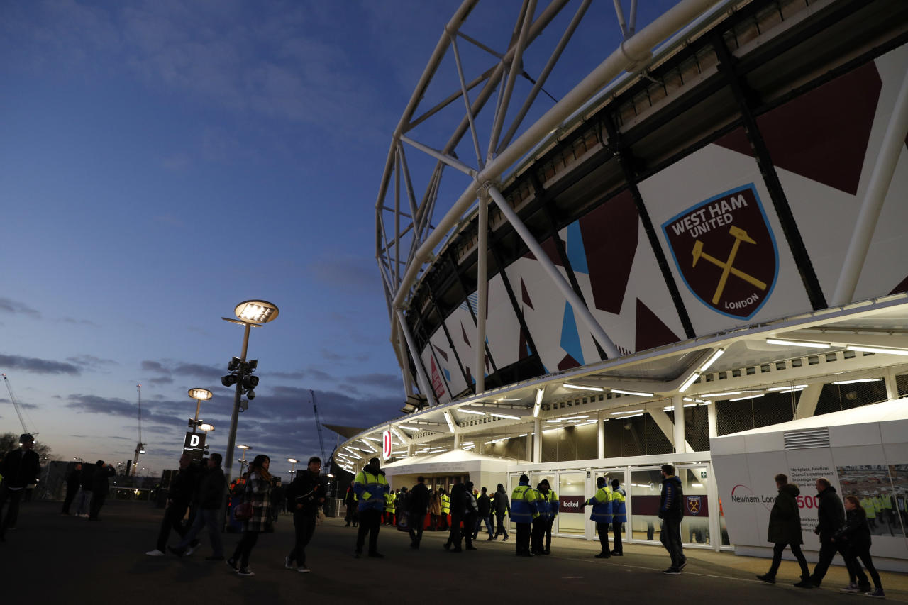 "Britain Football Soccer - West Ham United v Arsenal - Premier League - London Stadium - 3/12/16 General view outside the stadium before the game Action Images via Reuters / John Sibley FILE PHOTO EDITORIAL USE ONLY. No use with unauthorized audio, video, data, fixture lists, club/league logos or ""live"" services. Online in-match use limited to 45 images, no video emulation. No use in betting, games or single club/league/player publications. Please contact your account representative for further details."