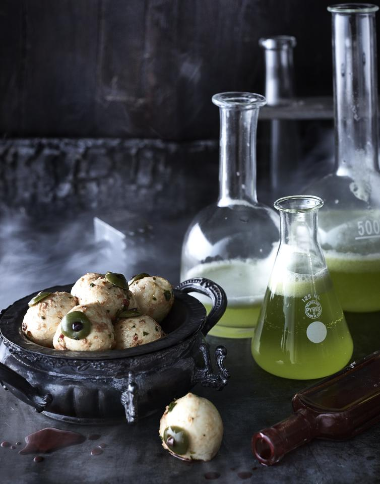 """<p>Serve a mad scientist-inspired, Jekyll and Hyde-themed appetizer for the ultimate spooky Halloween or horror snack. Your friends will not believe just how <em>real</em> these mozarella balls look and just how delicious they taste. With spices like garlic and red pepper and fresh Italian herbs, this ballin' recipe is packed with flavor that will keep your guests coming back for more.</p> <p><a href=""""https://www.myrecipes.com/recipe/marinated-mozzarella-eyeballs"""">Marinated Mozzarella Eyeballs Recipe</a></p>"""