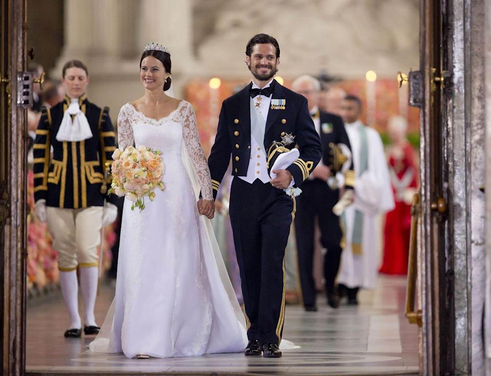 "<p>In 2015, Prince Carl Philip of Sweden married <a href=""https://www.harpersbazaar.com/celebrity/latest/a22896062/princess-sofia-prince-konstantin-of-bavaria-wedding/"" rel=""nofollow noopener"" target=""_blank"" data-ylk=""slk:Sofia Hellqvist"" class=""link rapid-noclick-resp"">Sofia Hellqvist</a>, now <a href=""https://www.harpersbazaar.com/celebrity/latest/a25426403/princess-sofia-sweden-birthday-portrait/"" rel=""nofollow noopener"" target=""_blank"" data-ylk=""slk:Princess Sofia, Duchess of Värmland"" class=""link rapid-noclick-resp"">Princess Sofia, Duchess of Värmland</a>. However, according to <a href=""https://www.vanityfair.com/style/2018/05/crazy-royal-wedding-stories"" rel=""nofollow noopener"" target=""_blank"" data-ylk=""slk:Vanity Fair"" class=""link rapid-noclick-resp""><em>Vanity Fair</em></a>, not everyone was a fan of Hellqvist, ""a tattooed former waitress who had appeared on the country's reality show <em>Paradise Hotel</em>—about singles stuffed into a luxury-hotel resort and plied with alcohol in hopes of sparks flying."" The couple has since <a href=""https://www.harpersbazaar.com/celebrity/latest/news/a21607/prince-carl-philip-princess-sofia-second-baby/"" rel=""nofollow noopener"" target=""_blank"" data-ylk=""slk:welcomed two children together"" class=""link rapid-noclick-resp"">welcomed two children together</a>, Princes Alexander and Gabriel.</p>"