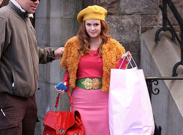 Actress Isla Fisher on location for