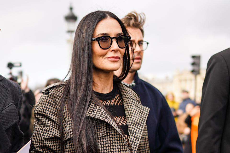 Demi Moore says she had to learn to love herself in order to heal from divorces, maintain sobriety.