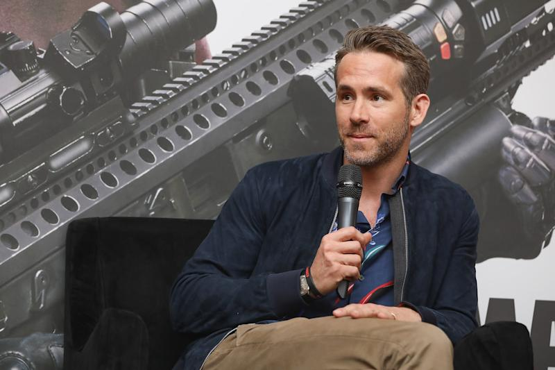 MEXICO CITY, MEXICO - APRIL 25: Actor Ryan Reynolds attends a press conference to promote his film