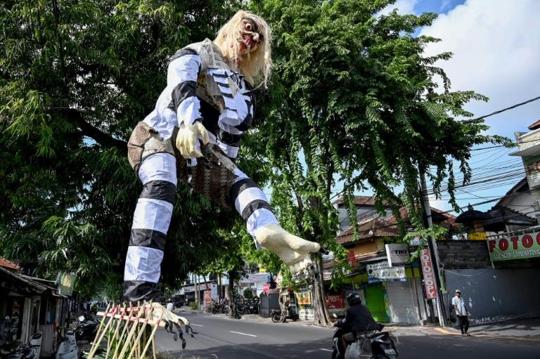 Colourful effigies known as Ogoh-Ogoh are burned in Bali to represent renewal and purification