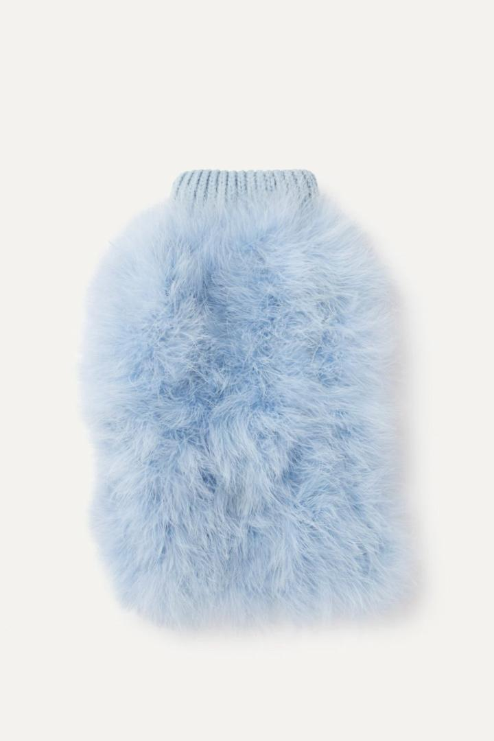"""<p>Make your pet even cuddlier with this stylish jumper that is covered in fluff. </p> <p><strong>Buy it!</strong> Christian Cowan X Max-Bone Jumper, $95.00; <a href=""""https://www.maxbone.com/products/feathered-jumper"""" rel=""""nofollow noopener"""" target=""""_blank"""" data-ylk=""""slk:MaxBone.com"""" class=""""link rapid-noclick-resp"""">MaxBone.com</a></p>"""