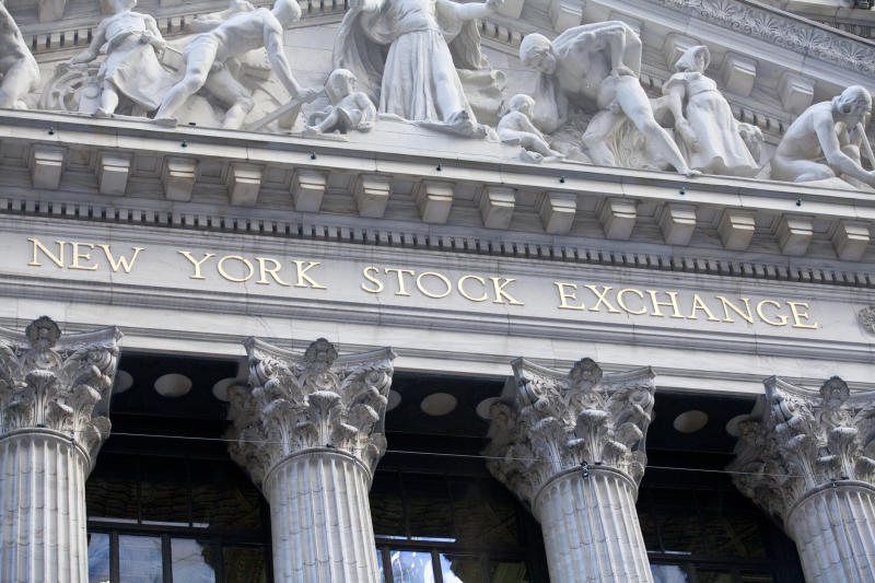 Exterior of the New York Stock Exchange.