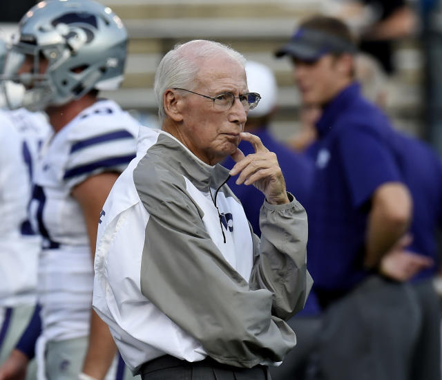 Kansas State coach Bill Snyder is in his 26th season. (AP Photo/Mark Zaleski, File)