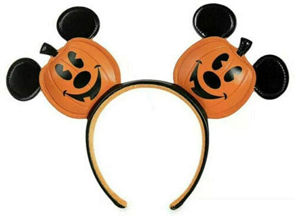 <p>This <span>Disney Parks Mickey Mouse Jack-O-Lantern Halloween Ears Headband</span> ($35) is a rare find.</p>