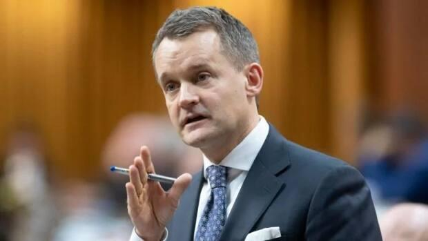 Liberal Seamus O'Regan is projected to return to Ottawa as MP for St. John's South-Mount Pearl. (Adrian Wyld/The Canadian Press - image credit)