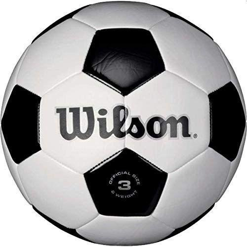 """<p><strong>Wilson</strong></p><p>amazon.com</p><p><strong>$18.99</strong></p><p><a href=""""https://www.amazon.com/dp/B001L3URAS?tag=syn-yahoo-20&ascsubtag=%5Bartid%7C10055.g.29419638%5Bsrc%7Cyahoo-us"""" rel=""""nofollow noopener"""" target=""""_blank"""" data-ylk=""""slk:Shop Now"""" class=""""link rapid-noclick-resp"""">Shop Now</a></p><p>Sports fans and aspiring soccer players would love to have a soccer ball of their own so <strong>they can practice their skills right at home.</strong> Make sure to get """"size 4"""" for kids in the 8 – 12 age group — it's a bit smaller than the standard adult soccer ball. And at just $15, it's an affordable and easy way to encourage your 9-year-old to get some outdoor play in. <em>Ages 8+</em></p>"""