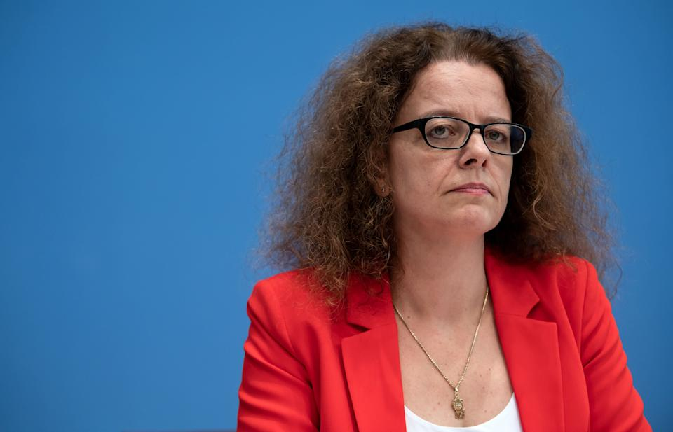 06 November 2019, Berlin: Isabel Schnabel, member of the German Council of Economic Experts, presents the annual report 2019/2020 of the German Council of Economic Experts at a press conference. Photo: Bernd von Jutrczenka/dpa (Photo by Bernd von Jutrczenka/picture alliance via Getty Images) (Photo: picture alliance via Getty Images)