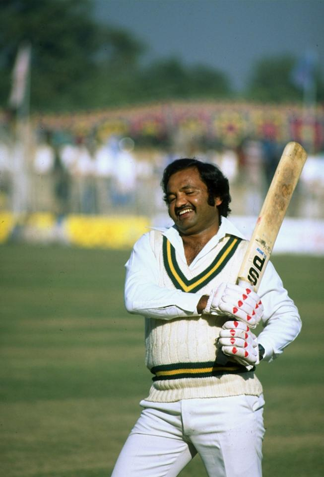 12 Dec 1981:  Pakistan Manager Mushtaq Mohammad in action during the Second Test match against the West Indies in Faisalabad, Pakistan. West Indies won the match by 156 runs.  \ Mandatory Credit: Adrian  Murrell/Allsport