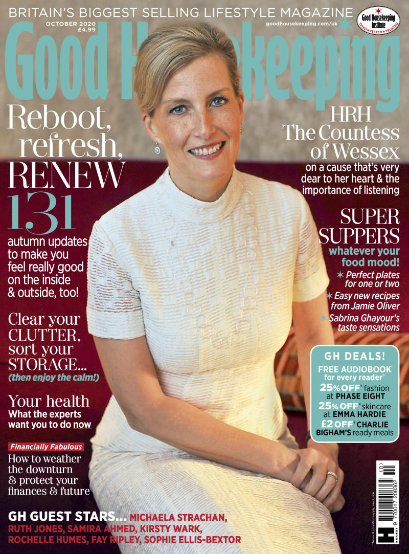 Sophie on the cover of Good Housekeeping