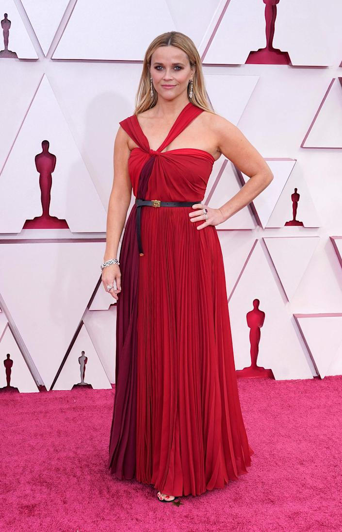 Reese Witherspoon Oscars red carpet 2021 (CHRIS PIZZELLO / AFP - Getty Images)
